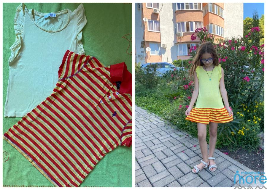 детское платье из двух футболок